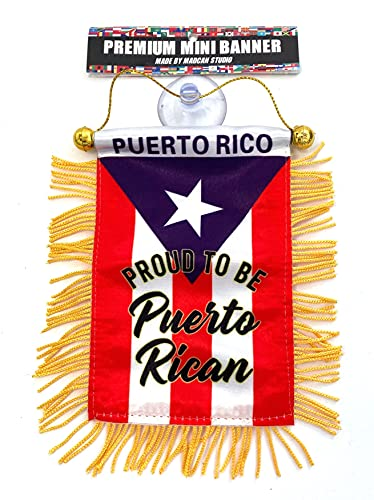 Puerto Rico flags for cars accessories sticker decals Puerto Rican Quality made banderas para autos small mini Banner hanging window car flags Boricua PR accessory