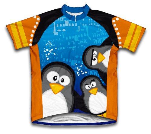 ScudoPro Curious Penguins Maillot Cycliste à Manches Courtes pour Hommes -