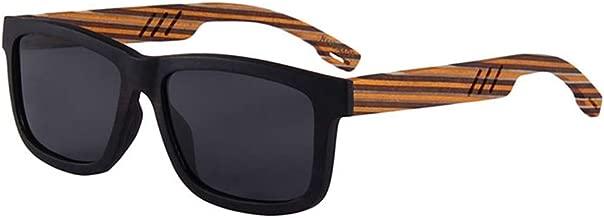 LUKEEXIN Color Strips Personality Men's Wooden Sunglasses Handmade Polarized Sunglasses UV Protection Driving Sunglasses Beach Sunglasses