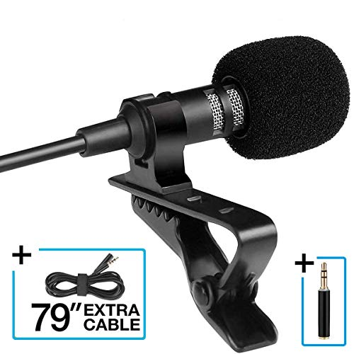 Agvincy Microphone 3.5mm Mic Pro Best for iPhone Android Smartphones Recording/YouTube/Podcast/Voice Dictation/Video Conference/Studio/Interview/External Condenser Cell Phone