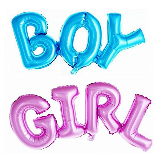 Simple polymer Boy and Girl Alphabet Letters Balloons Foil Balloons Mylar Balloons for Party Decoration