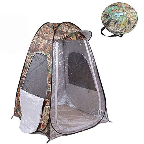 Garde-Robe Tente Douche Bain WC Drop Down Étanche Pop Up Camping Camouflage avec Sac Transport (120 × 120 × 170Cm)