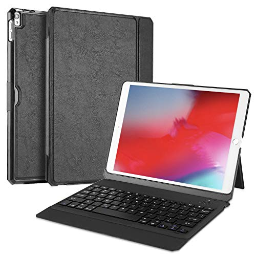IPad 2//3//4 Custodia nera Mini in pelle built-in FOLIO TASTIERA Bluetooth MAGNETICA