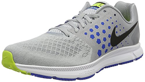 NIKE New Men's Air Zoom Span Running Shoe Grey/Hyper Cobalt 10