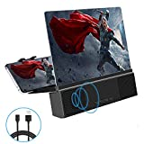 3D Phone Screen Amplifier, 12' HD Screen Amplifier with Bluetooth Spearker Anti-Blue Light Cell Phone Stands.Projector Amplifier for Movies,Videos,and Gaming–Supports All Smartphones