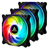 Antec 120mm RGB Case Fan, RGB High Performance PC Fan, 4-pin RGB, F12 Series, 3 Packs