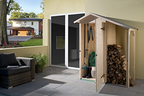 weka Garten-/Terrassenschrank 351 A Gr.1 Satteldach, 14 mm, ET, Schleppdach 50 cm