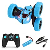 AXB Remote Control Car, RC Stunt Car Toy 4WD Double Sided 360°Rotating RC Car with Headlights Electric Toy Car Gift