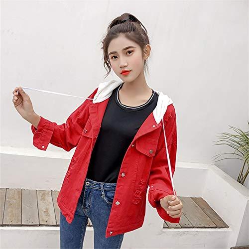 NZJK Lente Denim Jas Vrouwen Harajuku Vrouwelijke Grote Maat Borduren Jassen Vrouwelijke Herfst Hooded Casual Dames Jeans Jas