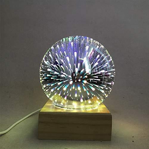 JIANGAA USB luz de la Noche 3D Magic Light Cristal decoración casera Creativa luz de la Noche llevó la Estrella proyección del Cielo de la habitación Lámparas de luz LED