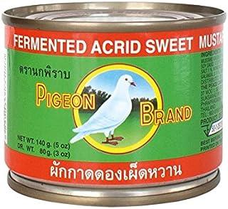 Pigeon Brand Acrid Sweet Mustard Green Pickled, 140 g