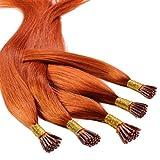 Hair2Heart 25 x 0.5g Microring Stick I-Tip Extension Capelli Veri - 60cm - Liscio, Colore ...