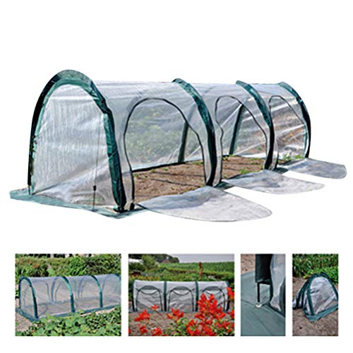 Heylas 3 Meter Verstärktes Tragbares Gewächshaus für Gemüsepflanzen mit Transparenter Innen und Außenverkleidung Kälteisolationsabdeckung der Gewächshausanlage