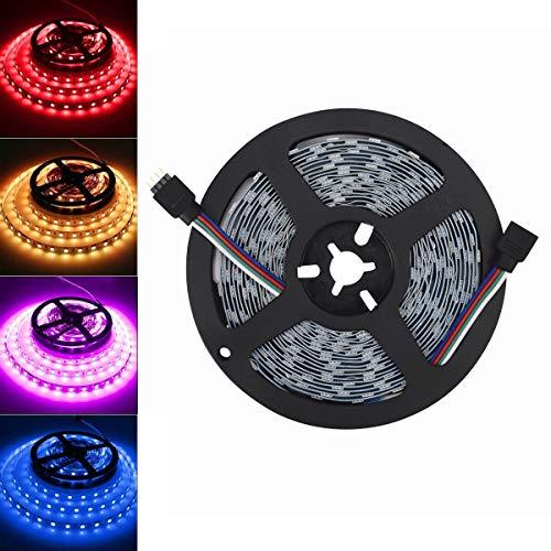 Arotelicht 5M 300 LEDs 5050SMD LED Leiste Strip Stripe Band Streifen Lichtleiste Lichterkette Lichter,RGB 12V 60LEDs/M (RGB, Nur 5M Strip, IP20)