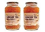Haio Ginger Tea With Honey Refresh With Korean Herbal Tea Ginger Delight - Product of Korea 2 Glass Jars 2.2 lb (1 kg. ) each
