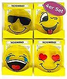 4er Set Taschenwärmer Funny Faces - Wichtelgeschenk - Handwärmer - Taschenheizkissen