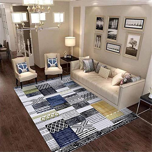 DJHWWD Carpet Rug Carpet gray geometric wide stripe pattern living room carpet anti-mite Outdoor Carpet Rug For Living Room grey 140X200CM