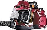 AEG LX7-2-FFP Staubsauger ohne Beutel (750 Watt, inkl. Hartbodendüse, 9 m Aktionsradius, Softräder, 1,4 Liter Staubbehälter, waschbarer Hygiene Filter E12) Rot