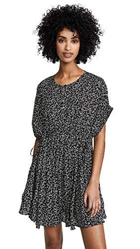 Free People Women's One Fine Day Mini Dress, Black Combo, Medium
