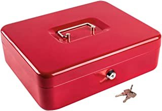 Kyodoled Metal Cash Box with Money Tray and Lock,Money Box with Cash Tray,Cash Drawer,11.81