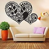 Vinile Wall Sticker Tattoo Cuori Fiore Amore Ornamento Floreale Wall Sticker Tatoo Decorazione Della Parete Murale Murale Decorazione In Vinile Carta Da Parati C928