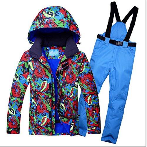 ZMXZMQ Heren Waterdichte Ski Jassen Broek Suit, Winddicht Geïsoleerde Hoodie, Winter Outdoor Windproof Sneeuwpak