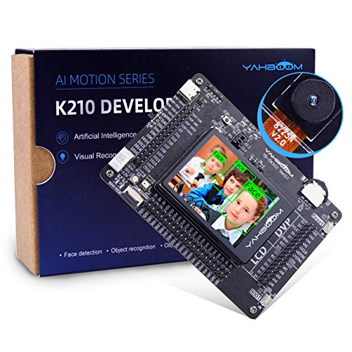 Yahboom K210 Developer Kit Single Board Computer with AI Vision RISC-V Face Recognition Camera Touch Screen Programmable Development Board (Complete Kit) (K210)