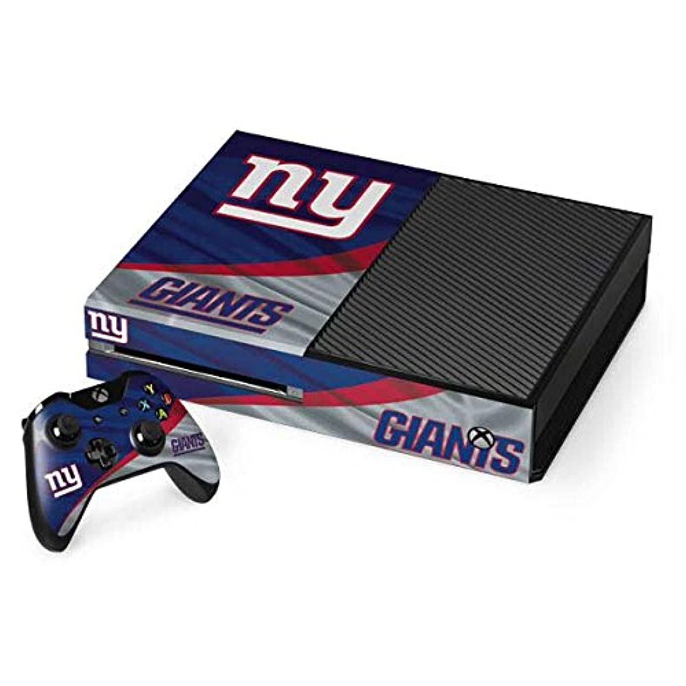 Skinit NFL New York Giants Xbox One Console and Controller Bundle Skin - New York Giants Design - Ultra Thin, Lightweight Vinyl Decal Protection