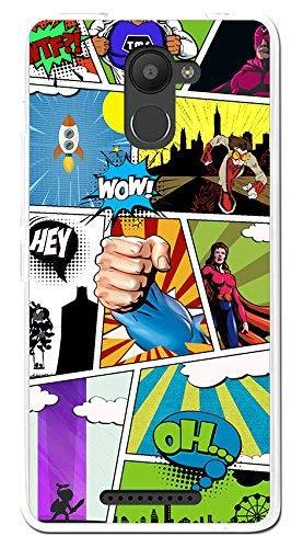 Tumundosmartphone Funda Gel TPU para BQ AQUARIS U Plus diseño Comic Dibujos