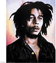 Bob Marley Color Background Reggae Music Postcard Print 11x14