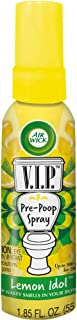 Air Wick V.I.P. Pre-Poop Toilet Spray, up to 100 uses, Contains Essential Oils, Lemon Idol Scent, Travel size, 1.85 oz