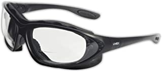 "Honeywell S0662X Uvex by Seismic 2.0 Diopter Safety Glasses with Black Polycarbonate Frame and Clear Polycarbonate Uvextreme Anti-Fog Lens, Plastic, 1"" x 1"" x 1"""