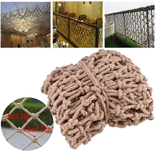 Protective Net decoratie/kinderen balkon net bescherming stootvast ladder henneptouw net retro deco klimmen handgeweven isolatie dakleuningen N
