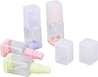 Lurrose Empty Spray Bottle Portable Travel Bottles Clear Refillable Square Containers 35ml 4PCS