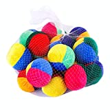 Gadpiparty 20 Piezas Mini Bolas de Malabares PUF Juguete Suave Durable Telas Malabares Juego de Bolas para Principiantes Niños Niñas Adultos