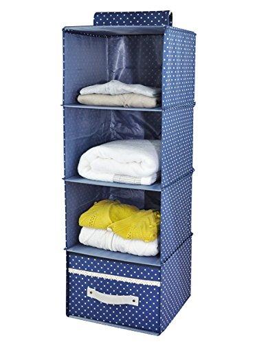 Hängendes Kleiderregal mit Schublade blau
