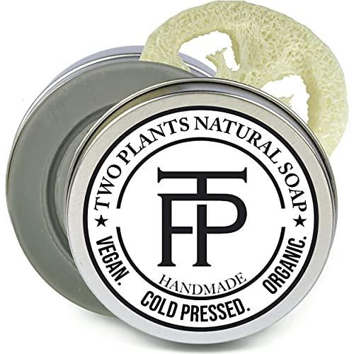 [SET] Pure Silver Naturseife | Vegane Seife für empfindliche Haut + Make-up | Premium Gesichtsseife Naturkosmetik | Gratis Seifenbox + Seifenablage | von TWO PLANTS