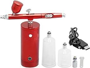 Tomshin Kit de aerógrafo USB recarregável com bomba de spray compressor de aerógrafo portátil de dupla ação Pistola de aer...