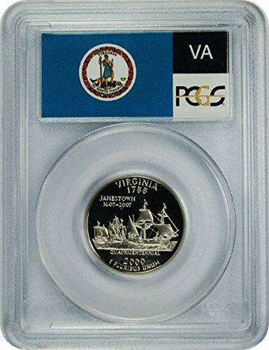 2000 S Virginia Statehood Virginia Statehood Quarter DCAM PCGS PR-70