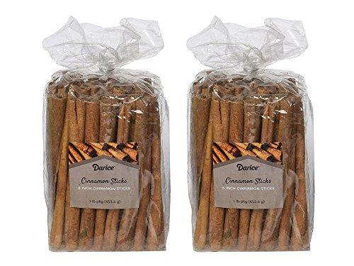 Darice 6 Inch Cinnamon Sticks for Crafts, 1 Pound (2 Pack)