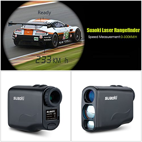 SUAOKI Golf Laser Rangefinder with Fog,Horizontal Distance, Height, Speed Measurement and Unique Distance Correction Function