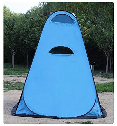 ZOSUO Tente De Pliage Mobile Unique Portable Pop Up Tente De Douche Instantanée Portable pour Tente De Vestiaire De avec Sac Tente Extérieure pour Camping Randonnée Pêche,Bleu