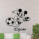 Animal de dibujos animados ratón pared calcomanía fútbol dibujos animados vinilo pegatina cartel jardín de infantes bebé niños habitación arte decoración