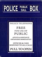 警察の公衆電話ボックス。 インチティンサインヴィンテージアイアンペインティングメタルプレートノベルティデコレーションクラブカフェバー。