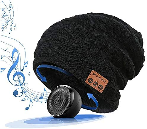 LiiFUNG 028 Wireless Bluetooth 5 0 Beanie Hat with Headphones Great Christmas Tech Gifts for product image