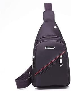 YXHM AU Chest Bag Men's Messenger Bag Canvas Shoulder Bag Diagonal Bag Casual Men's Small Backpack Bag Fashion Pocket Men's Bag (Color : Purple)