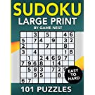 Sudoku Large Print 101 Puzzles Easy to Hard: One Puzzle Per Page - Easy, Medium, and Hard Large Print Puzzle Book For Adults (Puzzles & Games for Adults)