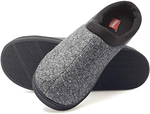 Hanes boys Clog House Shoe With Indoor Outdoor Memory Foam Sole Fresh Iq Odor Protection Slipper, Black, Small Little Kid US