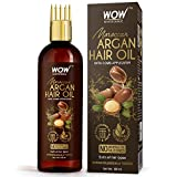 WOW Skin Science Moroccan Argan Hair Oil with Comb Applicator - Cold Pressed - No Mineral Oil &...