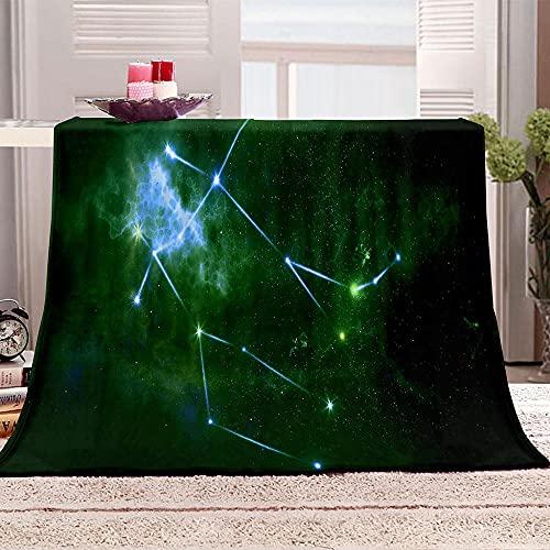 Ejiawj Mantas para Sofa Baratas Paisaje Verde Cielo Estrellado 100x130 cm 3D...